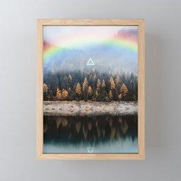 Magical Forest Lake Landscape Framed Mini Art Print