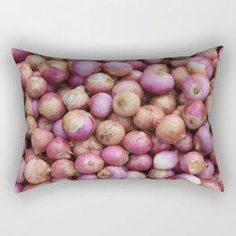 Food Illustration Onions Rectangular Pillow