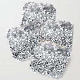 Silver Gray Lady Glitter #1 #shiny #decor #art #society6 Coaster