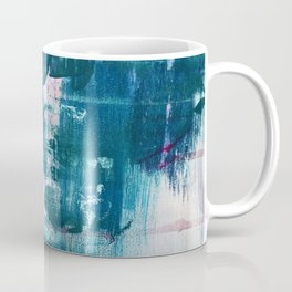 Complexity: a pretty abstract mixed-media piece in teal and purple by Alyssa Hamilton Art Coffee Mug