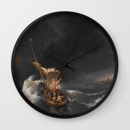 Christ in the Storm on the Sea of Galilee Wall Clock