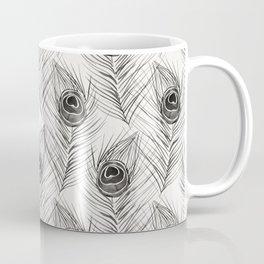 Peacock Feather – Black Palette Coffee Mug