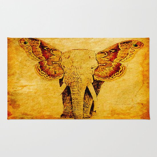 The elephant who wanted to be a butterfly Rug