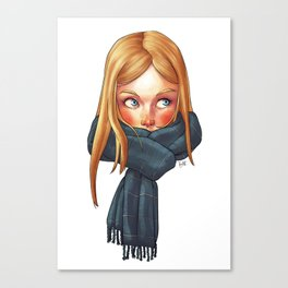 Blonde with Scarf Canvas Print
