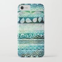 beach iPhone & iPod Cases featuring Dreamy Tribal Part VIII by Pom Graphic Design