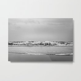 Dreamy mystic ocean tides Black and white Photography - Framed Art Print Metal Print