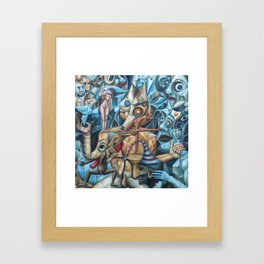 The Sea In The Fish Framed Art Print
