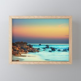 Sunset by the Sea Framed Mini Art Print