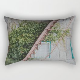 Stone House with Ivy Wall Rectangular Pillow