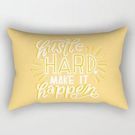hustle hard Rectangular Pillow