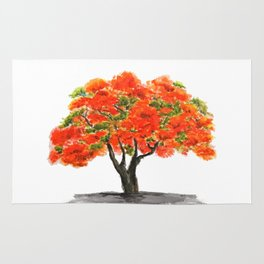 flame of the forest tree Rug