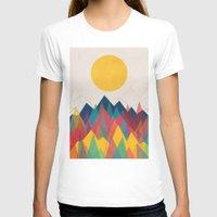 mountain T-shirts featuring Uphill Battle by Picomodi
