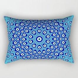 Nazar - Turkish Eye Circular Ornament #2 Rectangular Pillow