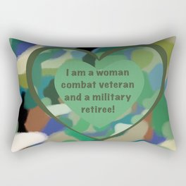 Woman Combat Veteran and Military Retiree Rectangular Pillow