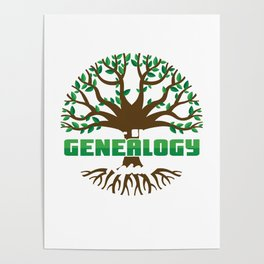Eat Sleep Genealogy Repeat Bloodline Parentage Lineage Origin Family Tree Gift Poster
