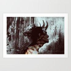 Darkness and light Art Print