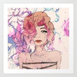 Tattoo Roses Art Print