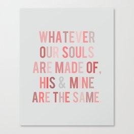 Love Quote Poster Canvas Print