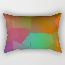Rainbow Origami Rectangular Pillow