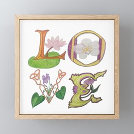 Love letters Framed Mini Art Print