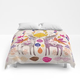 Fall in Love with Fawns Comforters