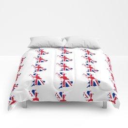 flag of uk 2- London,united kingdom,england,english,british,great britain,Glasgow,scotland,wales Comforters