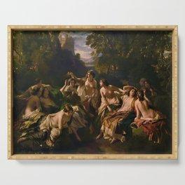 "1853 Classical Masterpiece ""Florinda"" by Franz Xaver Winterhalter Serving Tray"