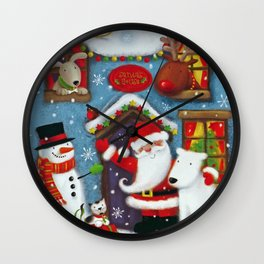 Santa's House Wall Clock