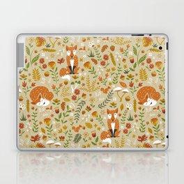 Foxes with Fall Foliage Laptop & iPad Skin