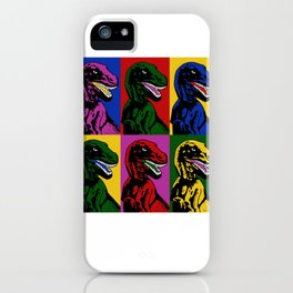 Dinosaur Pop Art iPhone Case