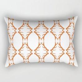Modern Antler: Orange Rectangular Pillow