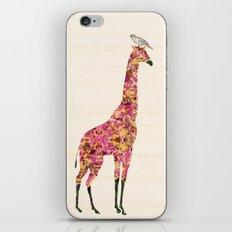Pink Giraffe iPhone & iPod Skin
