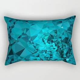 Teal Geometric Pattern Rectangular Pillow
