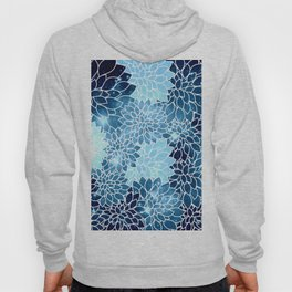Space Dahlias Blue Ice Hoody