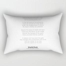 Invictus by William Ernest Henley #minimalist #poem Rectangular Pillow