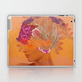 Woman in flowers III Laptop & iPad Skin