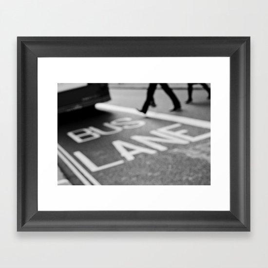 Bus line London Framed Art Print