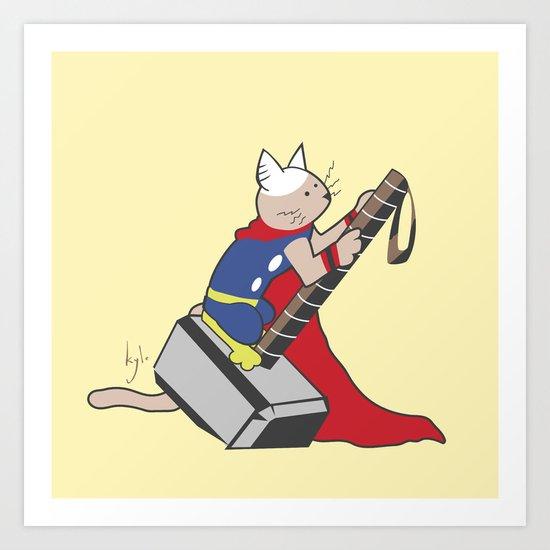 The Catty Thor Art Print