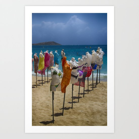 Beach bodies Art Print