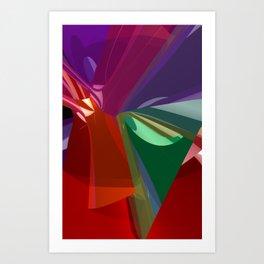 colorful 3D-pattern -3- Art Print
