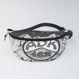"""""""ADK 46er"""" Hand-Drawn by Dark Mountain Arts Fanny Pack"""