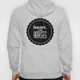 Vintage Funny Horseback Riding Gift for Horse Riders and Equestrian Lovers - with Distressed Effect  Hoody