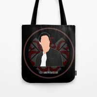 agents of shield Tote Bags featuring Agents of S.H.I.E.L.D. - Ward by MacGuffin Designs