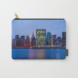 Beginning of the night over Manhattan Carry-All Pouch