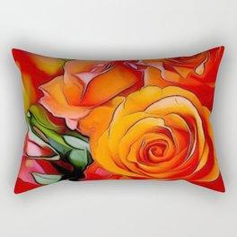 Orange Roses Rectangular Pillow