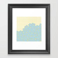 Forget Me Knot Gold Grid Framed Art Print