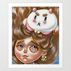 A Bee and her PuppyCat Art Print