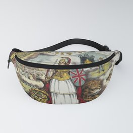 Raphael's Prophetic Almanack: Britannia, a mob by St Paul's, and the Boxer Rebellion (1841) Fanny Pack