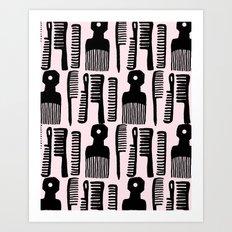 Comb It! Art Print