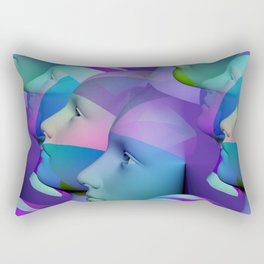 feeling blue together Rectangular Pillow
